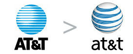 AT&T stare i nowe logo